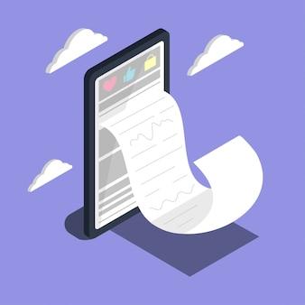 Acquisti online. grande marketing digitale e e-commerce per smartphone