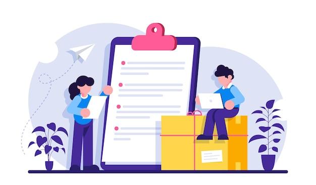 Shopping dettagli di consegna online