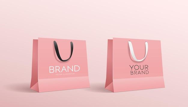 Shopping sacchetto di carta rosa, collezioni