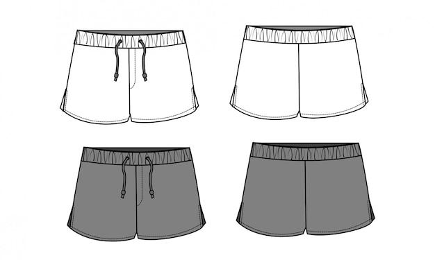 Pantaloni corti modello sketch piatto