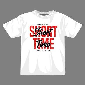 Design della maglietta vettoriale a breve termine