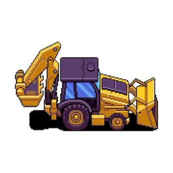 La pala tiene traccia delle tracce della pala delle risorse del gioco pixel art del veicolo