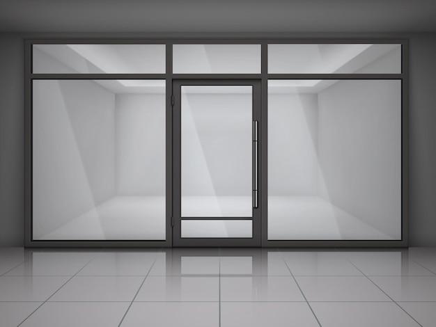 Vetrina vetrine e con negozio vuoto