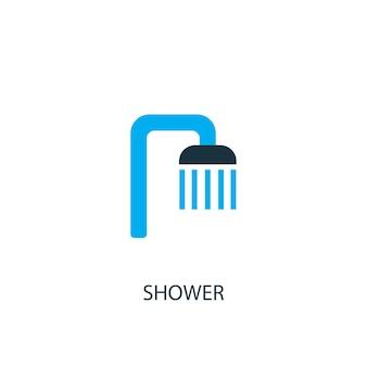 Icona della doccia. illustrazione dell'elemento logo. disegno di simbolo di doccia da 2 collezione colorata. semplice concetto di doccia. può essere utilizzato in web e mobile.