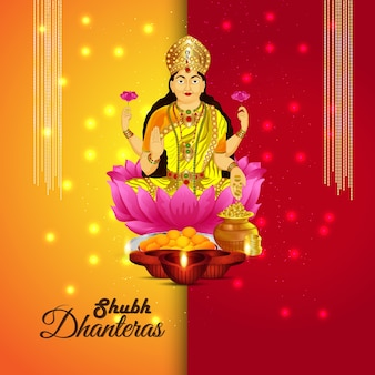 Shri laxmi decorato, biglietto di auguri shubh dhanteras