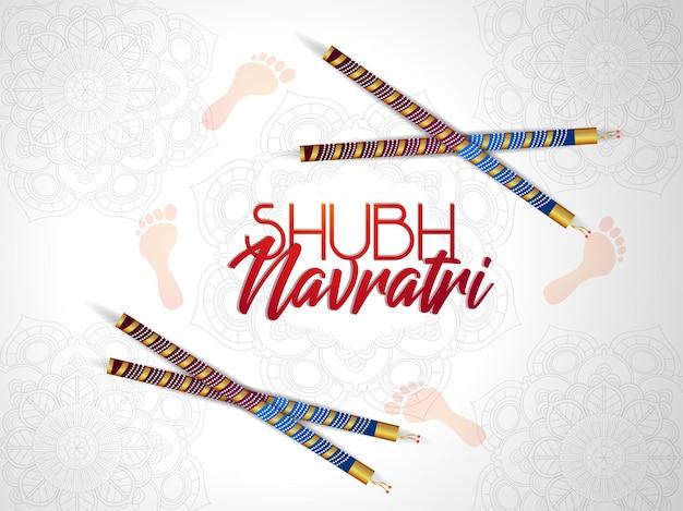 Biglietto di auguri per la celebrazione di shubh navratri