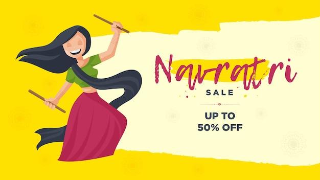 Shubh navratri vendita banner design