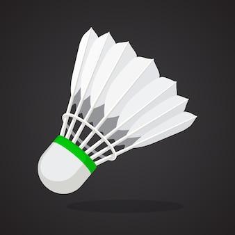 Volano per badminton da piume di uccelli attrezzature sportive illustrazione vettoriale