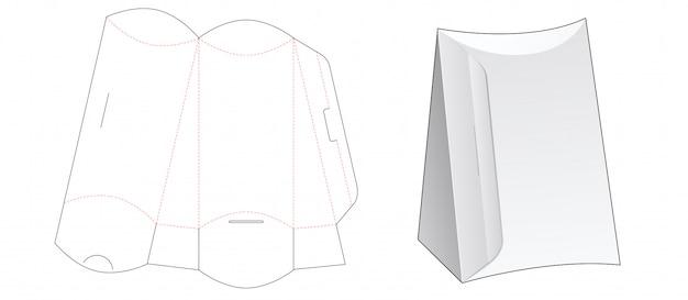 Scatola sagomata per cuscino con apertura laterale