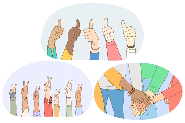 Lingua dei segni e dei gesti, concetto di espressione di emozione delle mani.