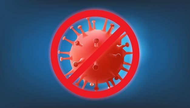 Iscriviti stop coronavirus. attenzione focolaio di coronavirus.