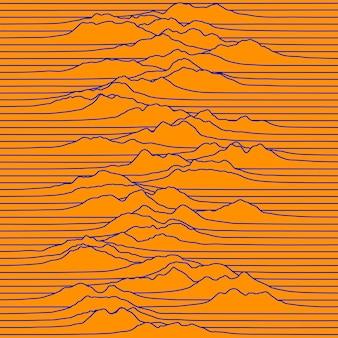 Grafica del segnale o dell'onda. fondo astratto di tecnologia di vettore.