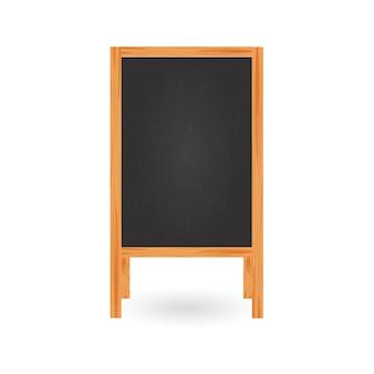 Menu dell'insegna per il ristorante isolato su fondo bianco. lavagna vuota vuota. lavagna con cornici in legno.