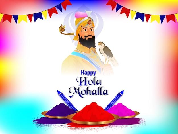 Cartolina d'auguri di holla mohalla del festival di celebrazione della cultura sikh