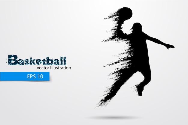 Sagoma di un giocatore di basket. illustrazione