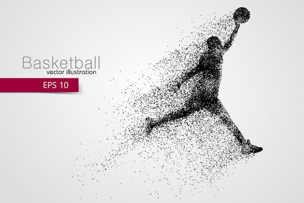 Sagoma di un giocatore di basket