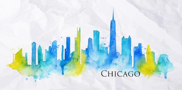 Silhouette della città di chicago