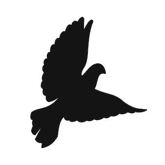Sagoma di una colomba in volo - un simbolo di pace e amore per la stampa e il taglio laser. illustrazione vettoriale.