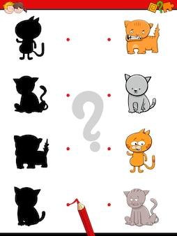 Gioco di silhouette con i gatti