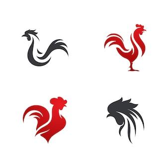 Siluetta del disegno dell'illustrazione dell'icona di vettore del gallo