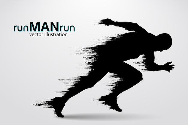 Sagoma di un uomo che corre. illustrazione