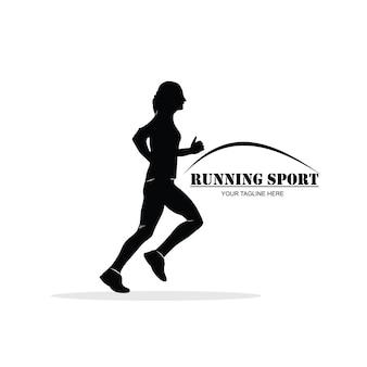 Silhouette di una donna che corre