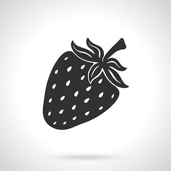 Sagoma di dolce fragola cibo sano modello o modello illustrazione vettoriale