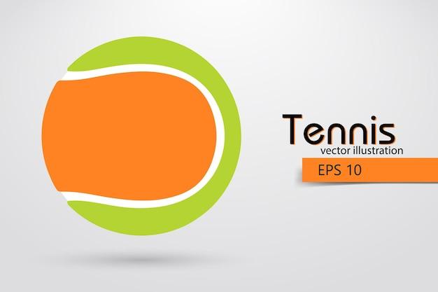 Sagoma di una pallina da tennis