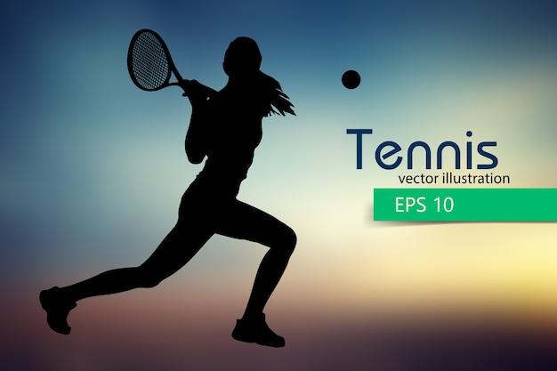 Sagoma di un giocatore di tennis