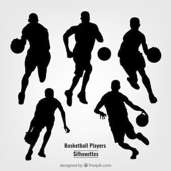 Sagome di giocatori di basket