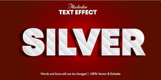 Effetto testo 3d argento