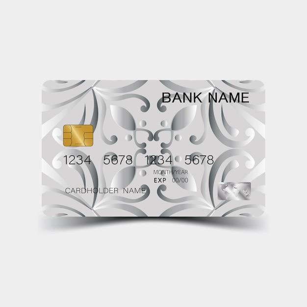 Design della carta di credito d'argento
