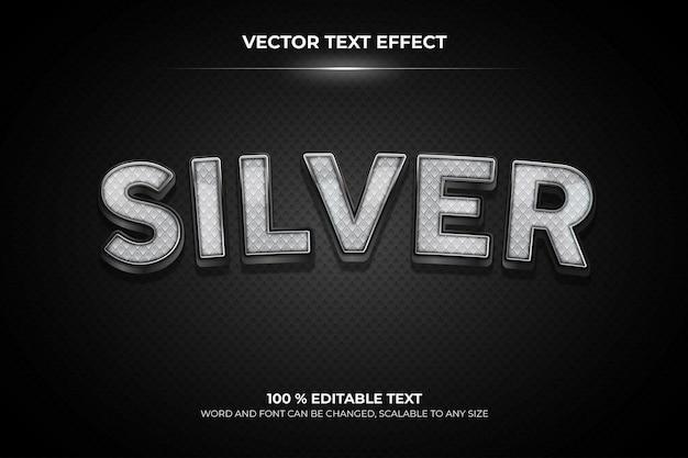 Effetto di testo 3d modificabile argento con stile backround pattern