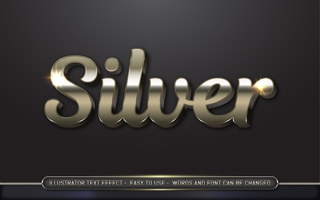 Argento: stile di effetto testo modificabile