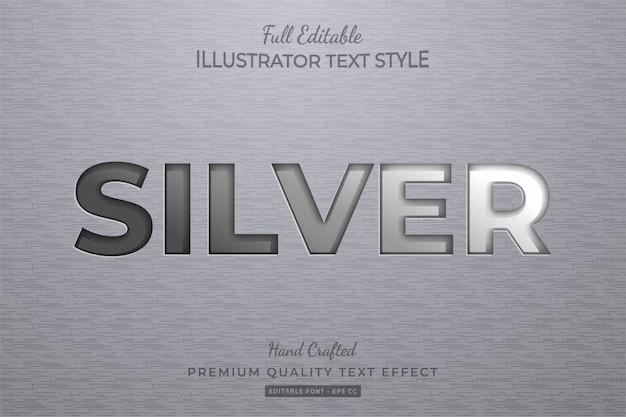 Argento modificabile effetto testo stile premium