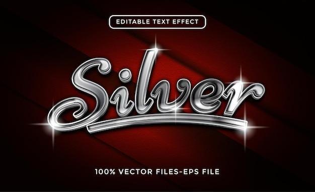 Effetto di testo editoriale argento. effetto acciaio con fondo in carbonio