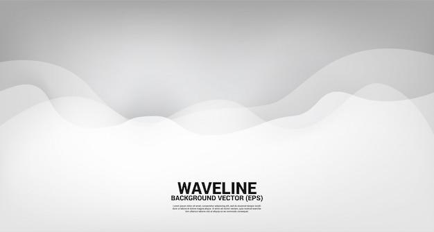 Sfondo di forma curva curva d'argento. concept design per fluide opere d'arte futuristica e stile onda fluida