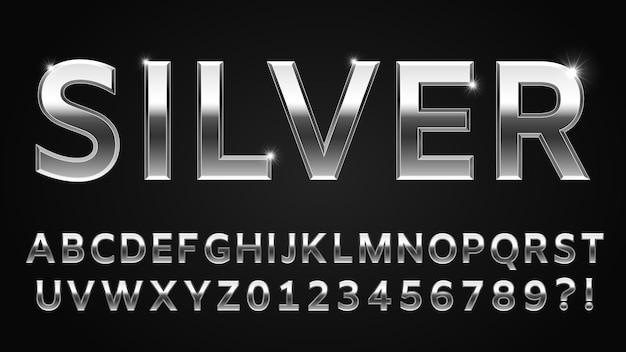 Stile carattere argento silver Vettore Premium