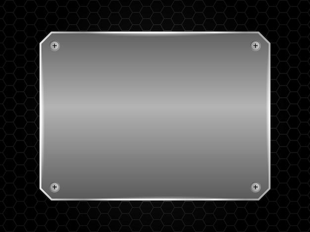 Cornice d'argento isolata su sfondo