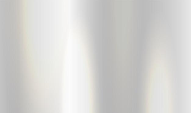 Piastra di lucentezza vettoriale in alluminio con struttura in metallo cromato con sfondo sfumato argento Vettore Premium