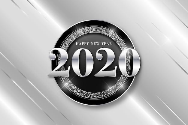 Sfondo argento nuovo anno 2020