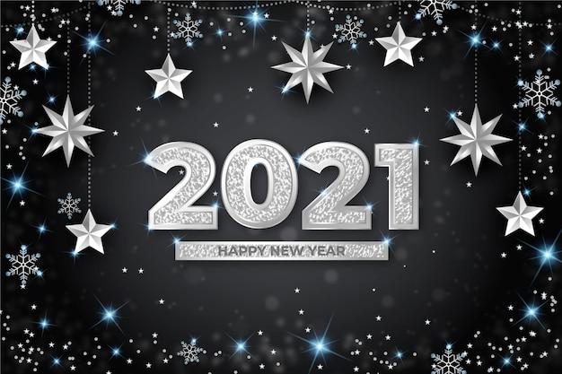 Sfondo argento nuovo anno 2021