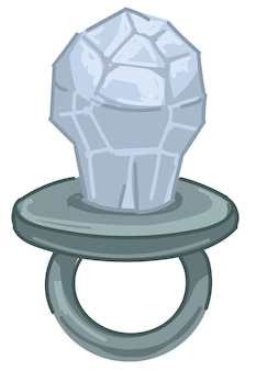 Anello in argento con cristallo, icona di gioielleria moderna