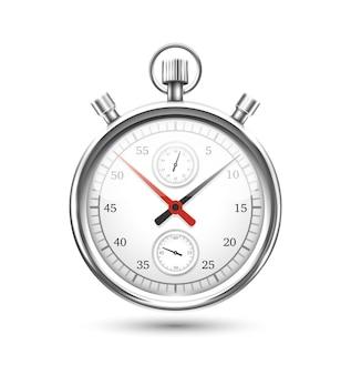 Grafico del cronometro d'argento in bilico Vettore Premium