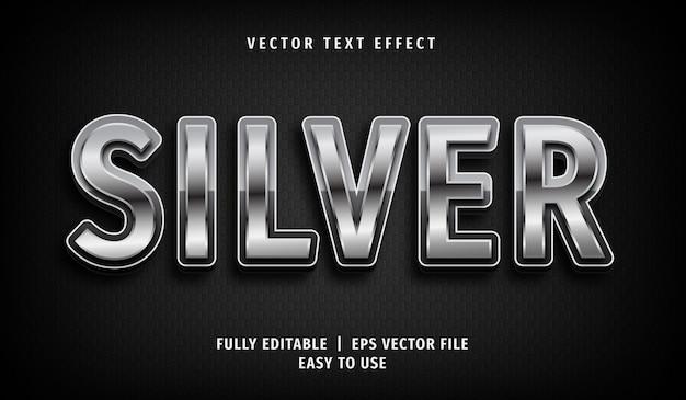 Effetto testo argento, stile di testo modificabile