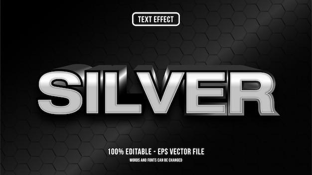 Concetto di stile effetto testo argento