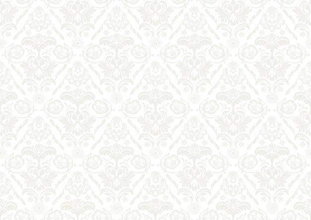 Carta da parati argento con motivo damascato