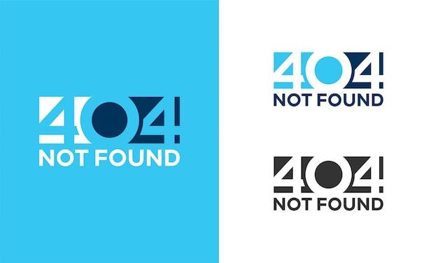 Illustrazione semplice dello sfondo dell'errore di pagina 404 non trovata,