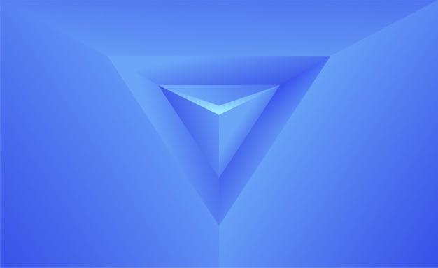 Semplice sfondo astratto con triangolo 3d stile semplice carta da parati blu illustrazione vettoriale