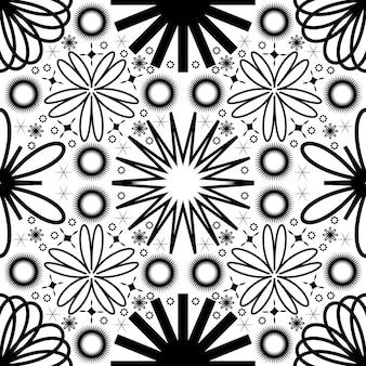 Semplice motivo floreale astratto senza soluzione di continuità motivo geometrico set illustrazione vettoriale